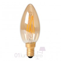 Ampoule LED filament E14 B35 bougie 3,5W 200Lm Gold dimmable - Calex