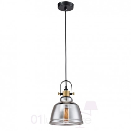 Suspension Lord Irving verre transparent Smoky MarketSet Maytoni