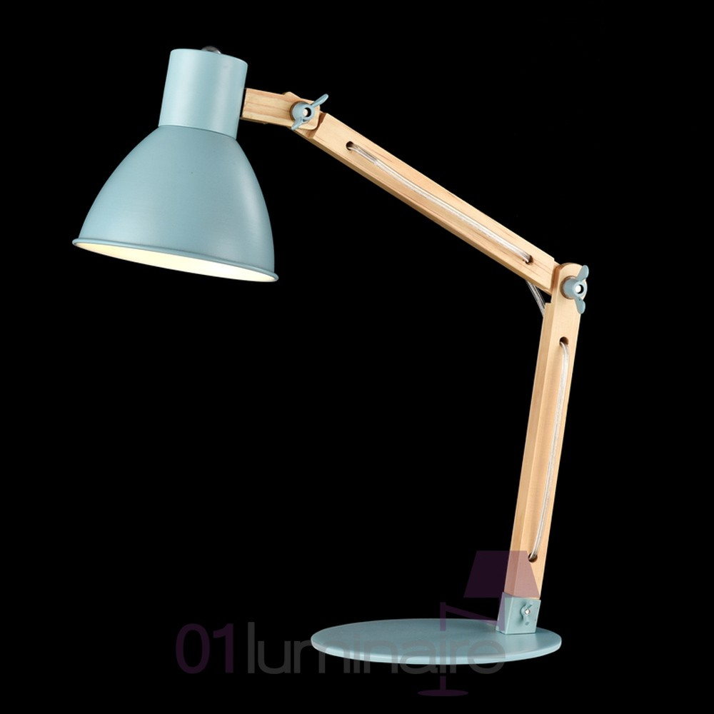 lampe bureau architecte apex bois bleu mod147 01 bl maytoni. Black Bedroom Furniture Sets. Home Design Ideas
