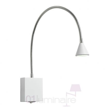 Liseuse Buddy Led 54cm blanc et chrome - Lucide