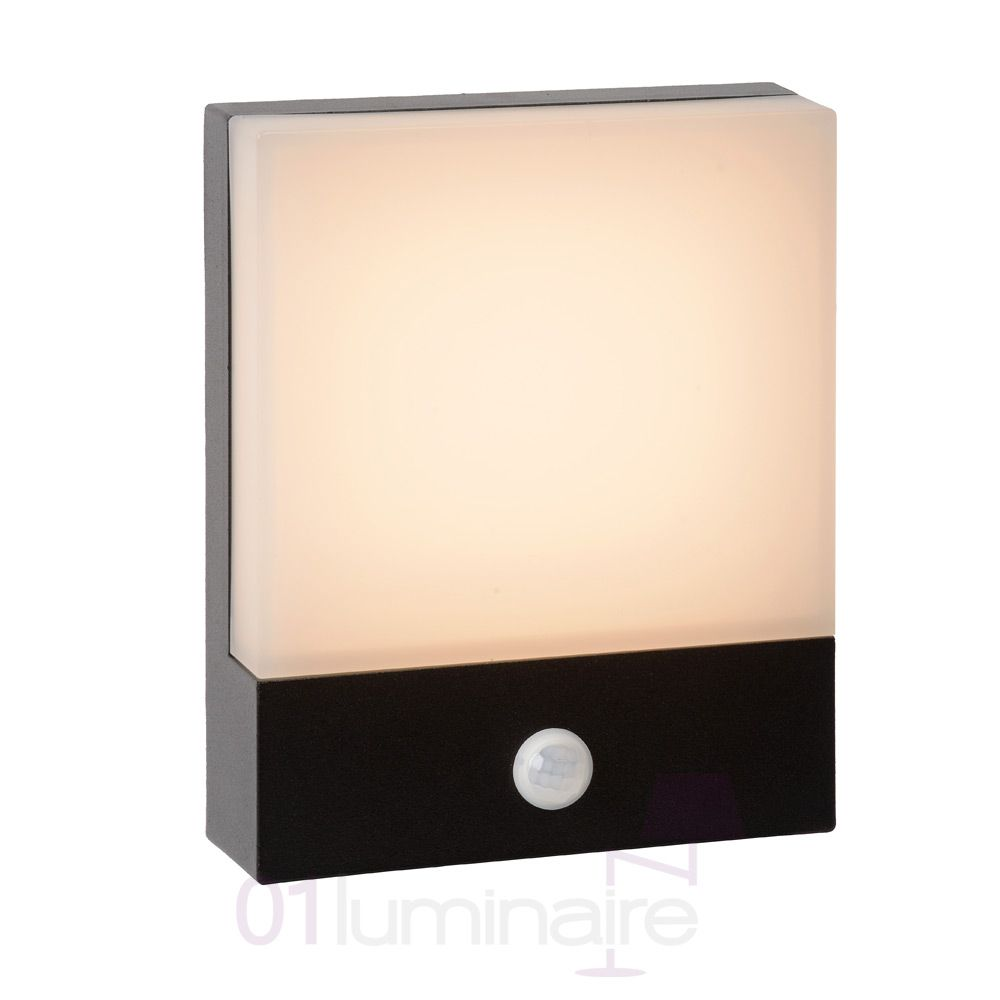 applique murale exterieur limba led noir detecteur. Black Bedroom Furniture Sets. Home Design Ideas