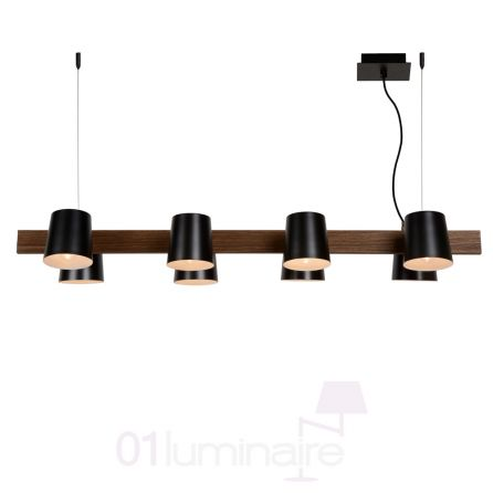 suspension octo bois noir 8 lumi res e14 30481 08 30 lucide. Black Bedroom Furniture Sets. Home Design Ideas