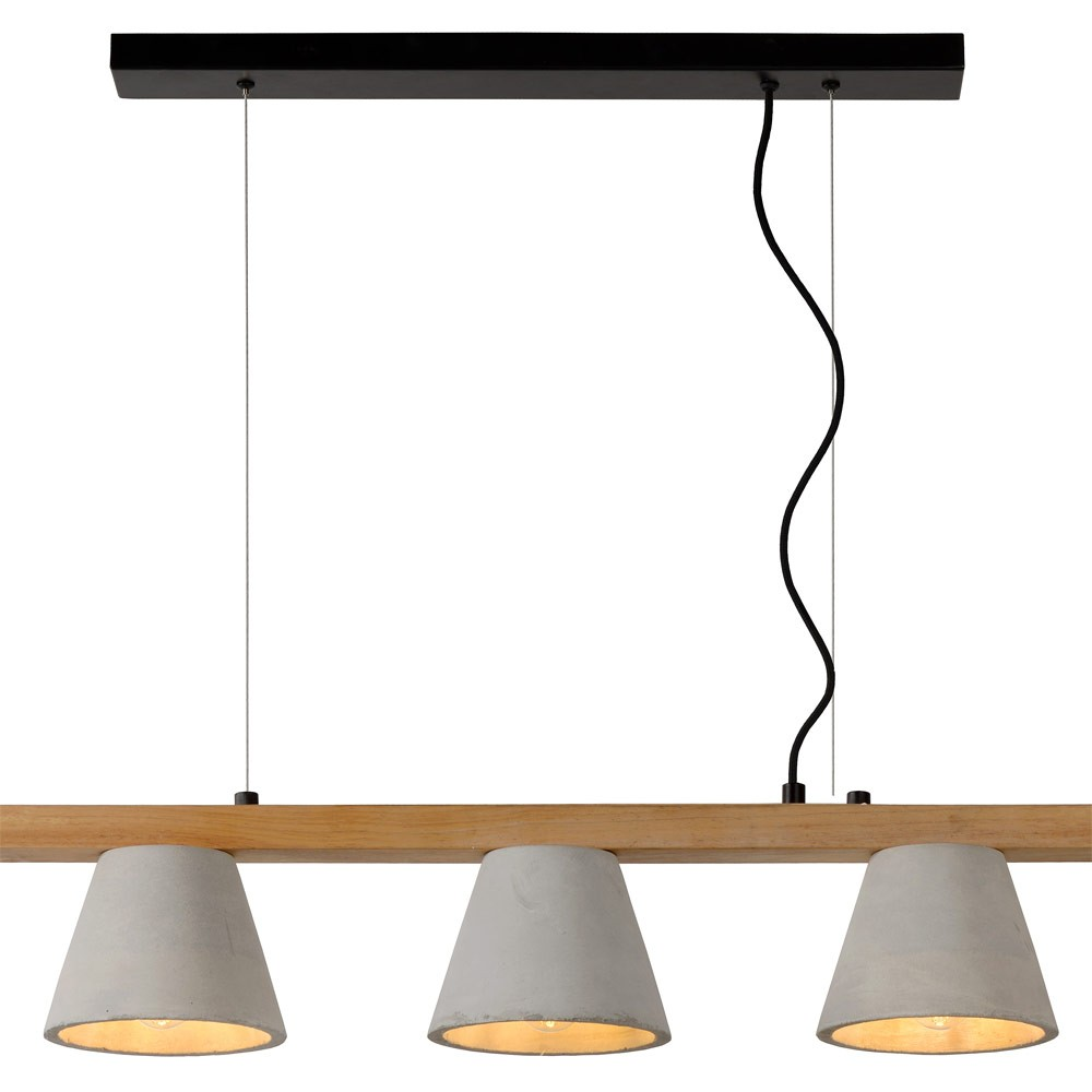 Luminaire suspension bois suspension en bois bambou corep for Suspension bois luminaire