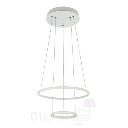 Suspension Nola LED 2000Lm 4000K Ø40cm blanc - Maytoni