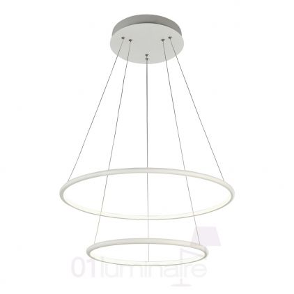 Suspension Nola LED 3300Lm 4000K Ø60cm blanc - Maytoni