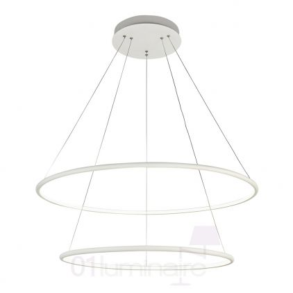 Suspension Nola LED 4800Lm 4000K Ø80cm blanc - Maytoni