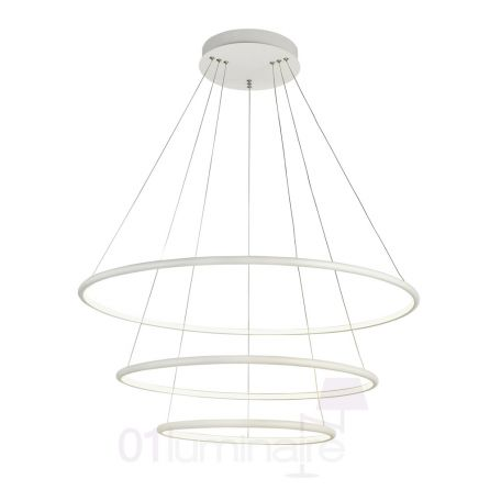 Suspension Nola LED 5500Lm 4000K Ø80cm blanc - Maytoni