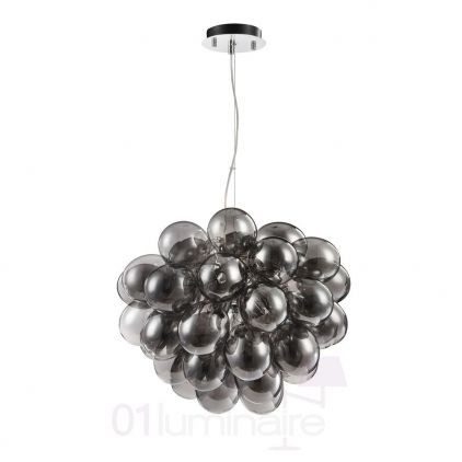 Suspension Balbo 8xG9 28W verre smoky - Maytoni