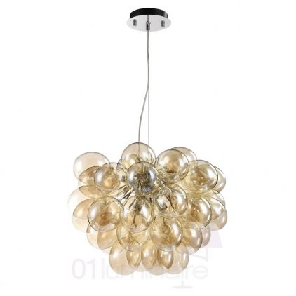 Suspension Balbo 8xG9 28W verre cognac - Maytoni