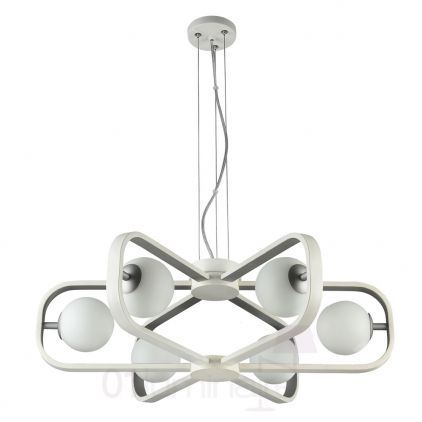 Suspension Avola 6xG9 40W blanc/argent Maytoni