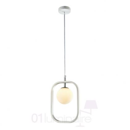 Suspension Avola 1xG9 40W blanc/argent Maytoni