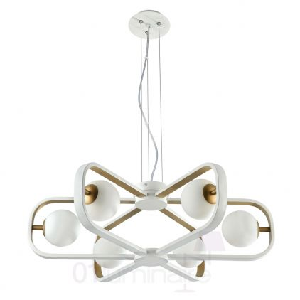 Suspension Avola 6xG9 40W blanc/or - Maytoni