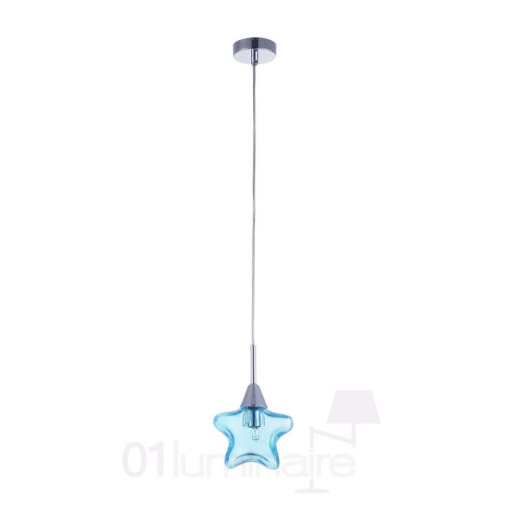 Suspension star bleu maytoni mod246 pl 01 bl for Suspension bleu