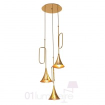 Suspension Jazz H200cm 3xE27 20W or - Mantra