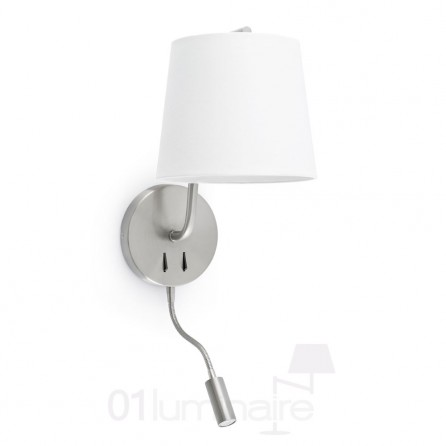 Applique Liseuse Berni Nickel Faro 29331
