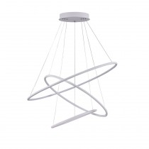 Suspension Nola LED 5500Lm 3000K Ø80cm blanc - Maytoni