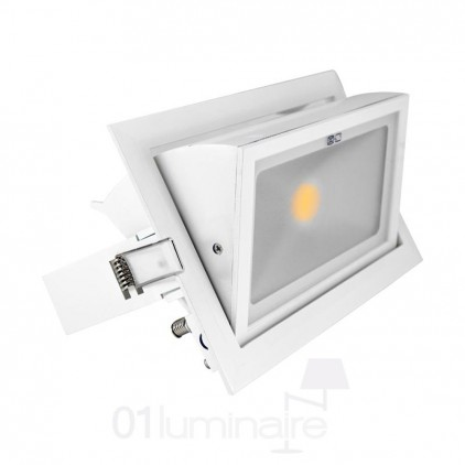 Spot Rectangulaire Orientable LED 3000K Vision EL 7690