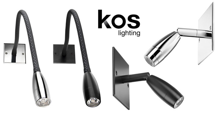 Liseuse Flexible ou Liseuse Rotule LED de tête de lit de Kos Lighting